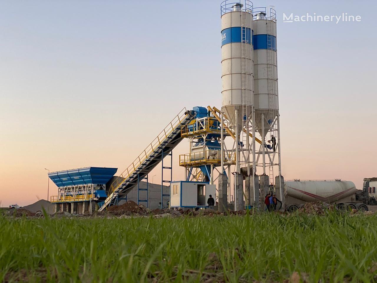 PROMAX Centrale à Béton Stationnaire/Fixe S130-TWN(130m³/h) planta de hormigón nueva